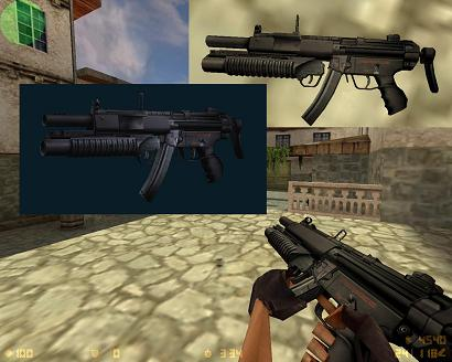 MP5 With Grenade Launcher (1.39Mb)